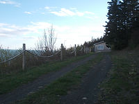 The drive up to Felicity Cottage. The cottages are all spaced apart ensuring privacy.