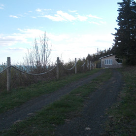 The driveway to Felicity Cottage.
