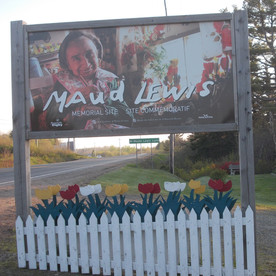Maud Lewis home site on Hwy. 1 in Marshalltown.
