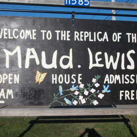 Replica of the Maud Lewis House in Seabrook on Hwy. 217