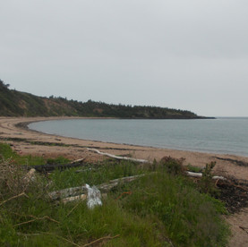 Sandy Cove beach on the Bay of Fundy.