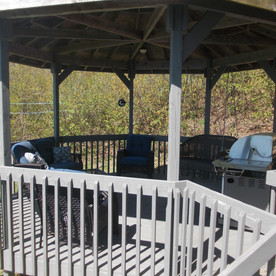 The gazebo at Tranquility Cottage.