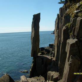 The Balancing Rock in Tiverton on Long Island is a great  hike.