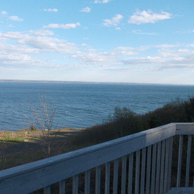 Looking west to Chruch Point on Saint Mary's Bay from the deck of Tranuquility Cottage.