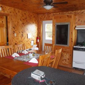 The kitchen in Serenity Cottage.