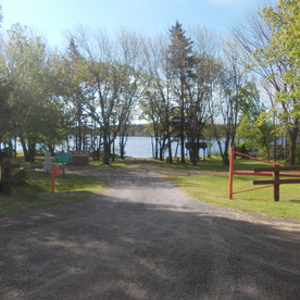 The boat launch is just inside the park entrance.