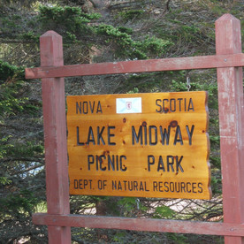 There is a Provincial Park at Lake Midway.   There is a small fresh water beach, changing houses, washrooms, fresh drinking water, and a launch for small boats.