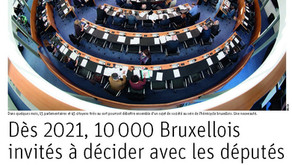 La Libre: Dès 2021, 10.000 Bruxellois invités à décider avec les députés
