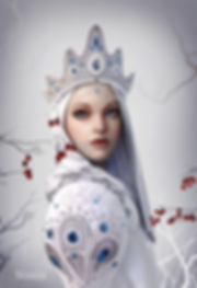 winter russia anime Digital 3D Characters Concept Art Game Art chibi girl game Characters fantasy Low-poly concept design concept character Game Art Digital 3Dsubstance painter