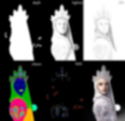 keyshot winter russia anime Digital 3D Characters Concept Art Game Art chibi girl game Characters fantasy Low-poly concept design concept character Game Art Digital 3Dsubstance painter