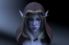 Sylvanas windrunner wow hots anime Digital 3D Characters Concept Art Game Art chibi girl game Characters fantasy Low-poly concept design concept character Game Art Digital 3Dsubstance painter