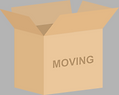 An open moving box