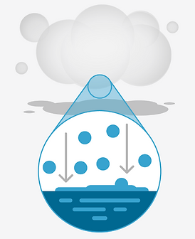 Image depicting a fog that has larger particles that stick to surfaces and create a wet puddle.