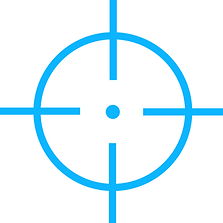 Crosshairs used for aiming