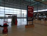 Terminal, Ebene E1 (Abflug) - Einzige Spuren der airberlin, deren Drehkreuz der BER werden sollte.