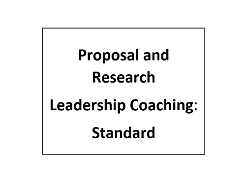 Proposal and Research Leadership Coaching: Standard