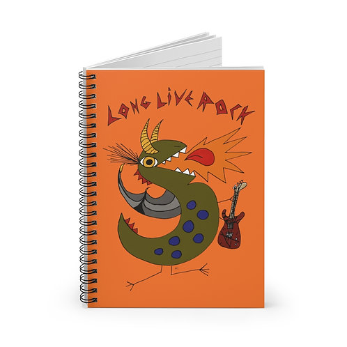 Long Live Rock feat. T-Rocious Spiral Notebook - Ruled Line