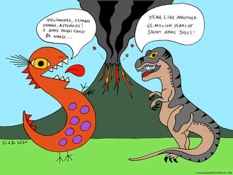 That one time when T-Rocious met a T-Rex