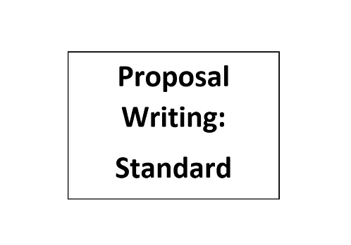 Proposal Writing for Individuals: Standard Application