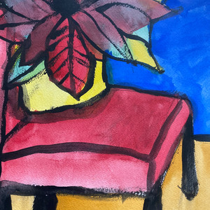 red flower and chair.jpg