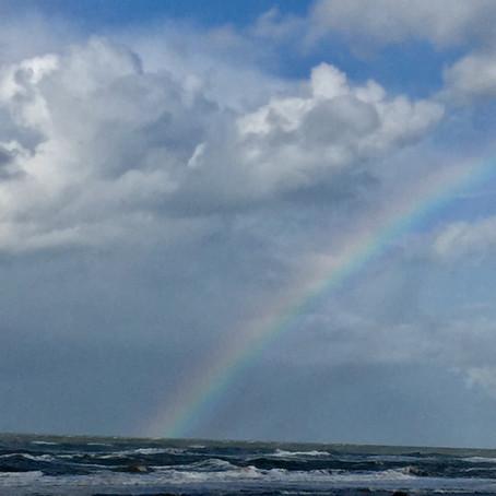 De pot met goud en de regenboog?