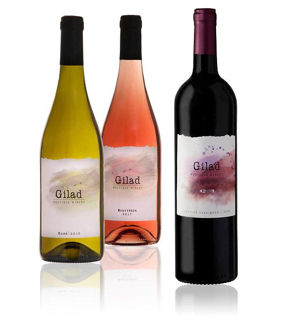תוויות ליינות יקב גלעד מבוצעות בצבעי מים