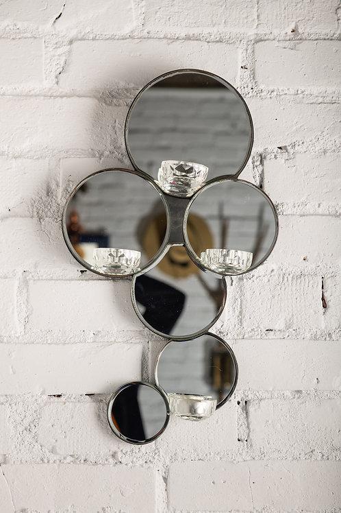 Oglindă - suport lumânări veche