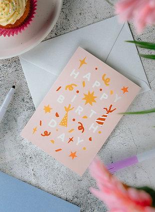 'Pink' Birthday Greeting Card