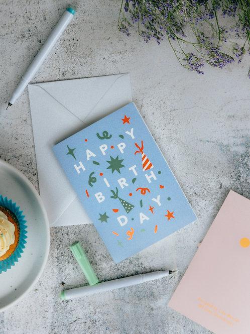 'Blue' Birthday Greeting Card
