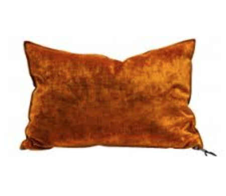 Coussin velours royal Ambre