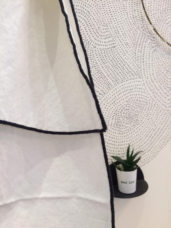 Panneaux de Lin/Coton bordé