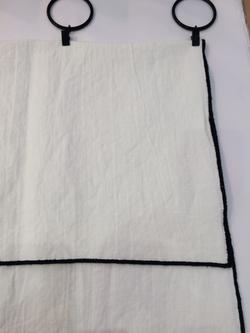 Panneaux de Lin/coton bordés