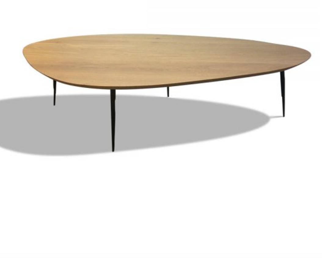 Table Galet chêne clair