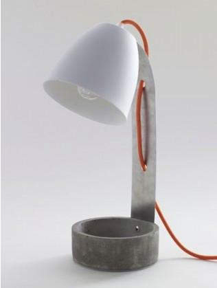 Lampe à poser Béton/ Porcelaine