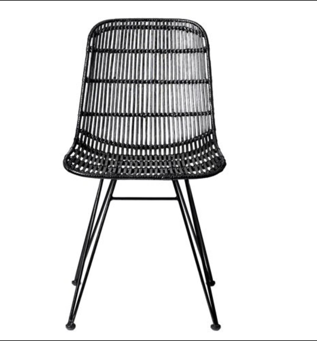 Chaise rattan