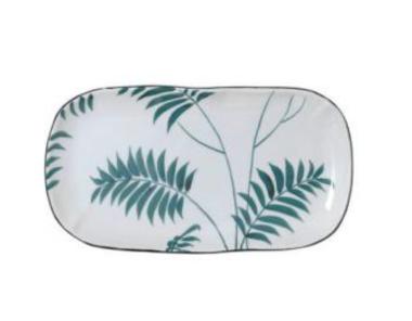Plat green palm
