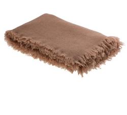 Plaid laine lavée