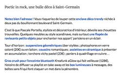 Poetic in Rock,une Bulle déco à Saint Germain