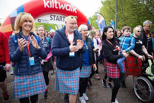 Kiltwalk start