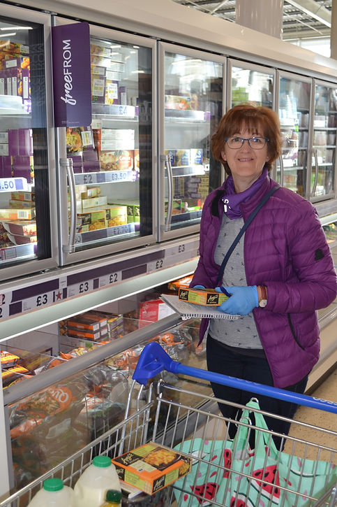 Lorna Woods picks up gluten free for her