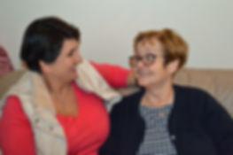 Margaret Murphy (r) with befriender Eliz