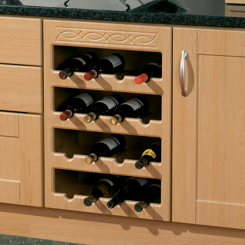 Frieze Pattern Wine Rack 2