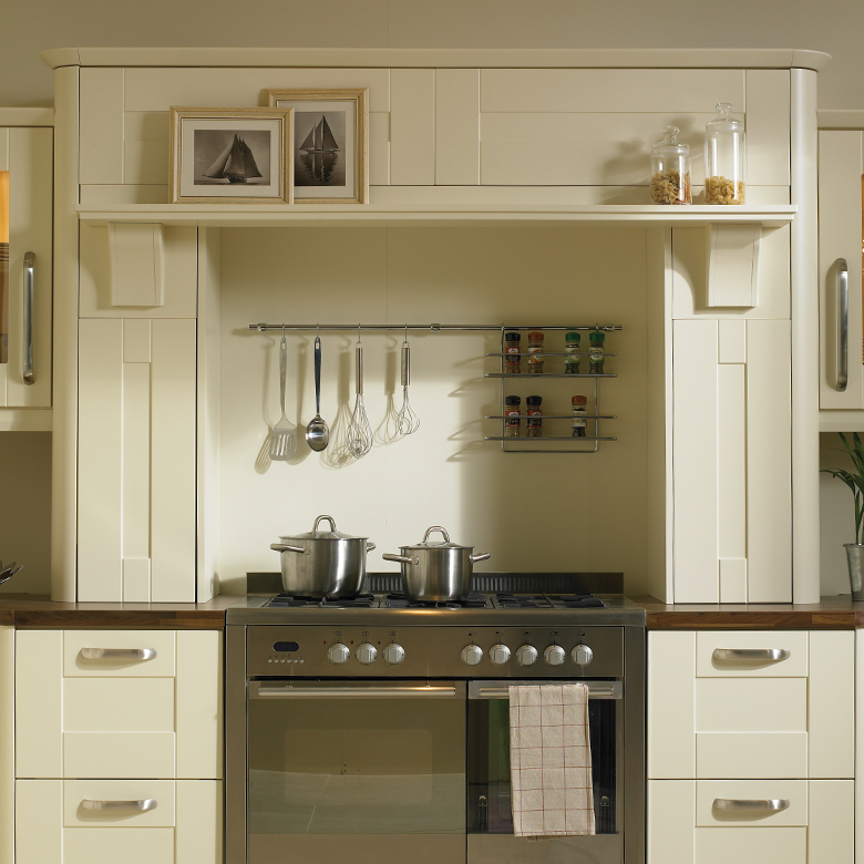 Mantle shown with Narrow Shelf option