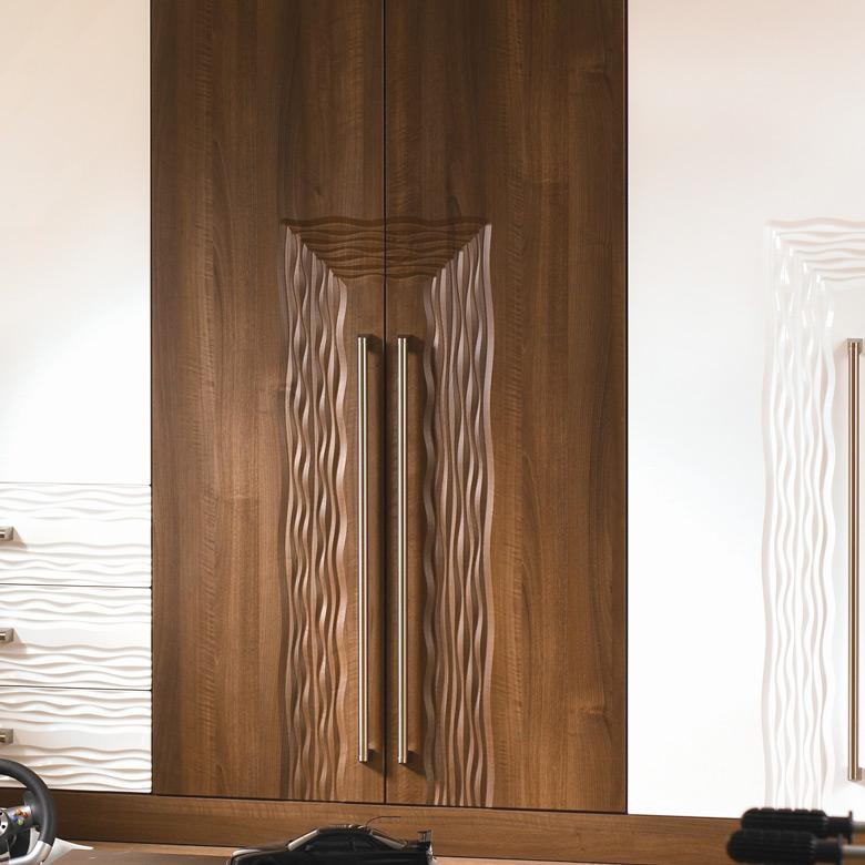Pair of Sahara Carved Flow Line Doors