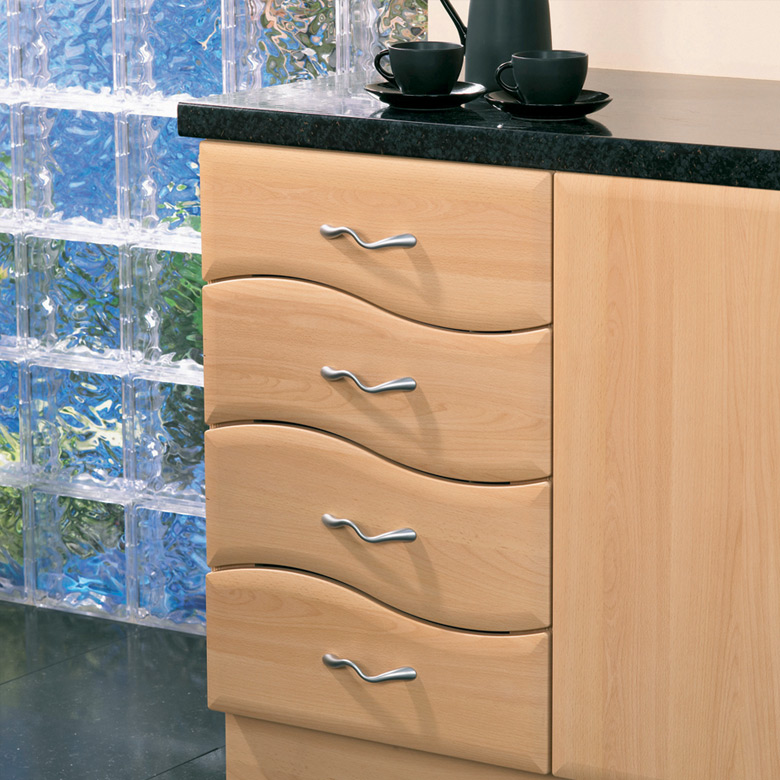 Wave Design 4 Drawer Unit