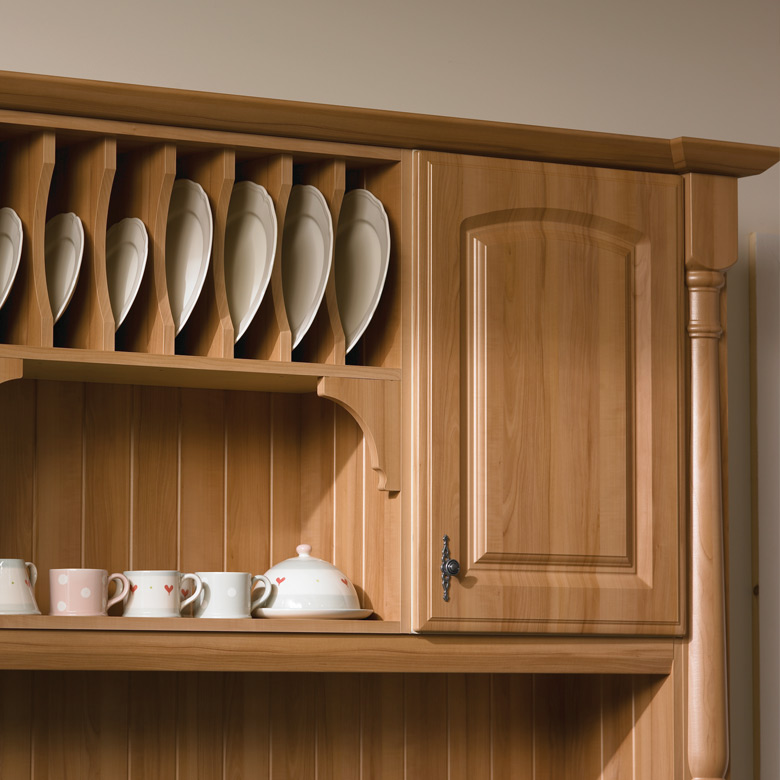 Plate Rack Unit with T&G Panels & Corner Brackets