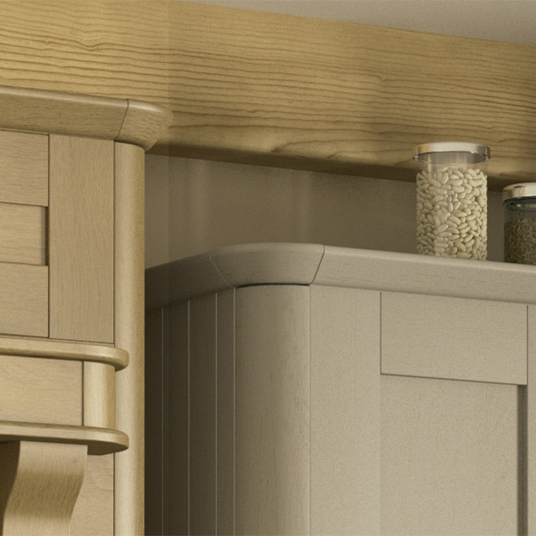 Curved Corner Feature and Tangent Cornice
