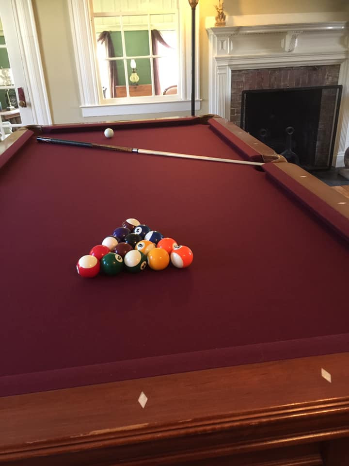Pool table cozy games room