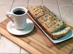 Freshly-baked breakfast breads.