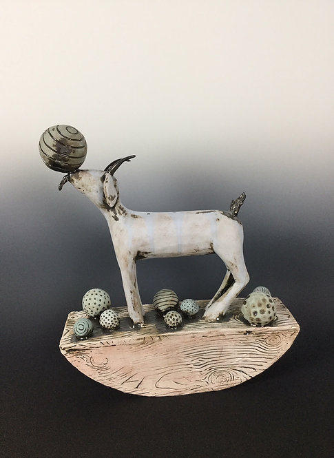 Large Rocking Goat with Balls